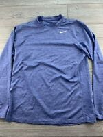 NIKE Dri-Fit Long Sleeve Training Shirt Women's Large L Athletic Run