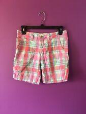 """Aeropostale - Shorts Plaid Size 1/2 Pink Length 15"""""""