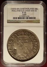 1693 Netherlands 28s Holland C/S Counter Stamp NGC Certified!