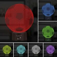 Lampara 3D LED De Ilucion De Pelota De Futbol Con 7 Colores De Luces Cambiantes