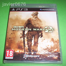 CALL OF DUTY MODERN WARFARE 2 NUEVO Y PRECINTADO PAL ESPAÑA PLAYSTATION 3