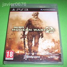 CALL OF DUTY MODERN WARFARE 2 NUEVO Y PRECINTADO PAL ESPAÑA PLAYSTATION 3 PS3