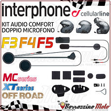 KIT RICAMBIO MICROFONO AURICOLARI INTERPHONE CELLULARLINE F3 F4 F5 MC/XT OFFROAD