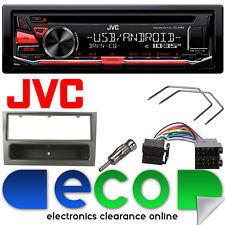 JVC CD MP3 RDS SINTONIZZATORE USB AUX STEREO AUTO & Grigio VAUXHALL MERIVA Kit Fascia