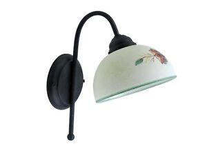lampada da parete applique classico rustico country camera salone cucina ingress