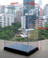 Clear Acrylic Display Case Transparent Plexiglass Dustproof Box 26.5x19x14cm