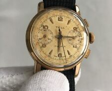 Vintage Tell Chronograph Men's Watch Landeron 148 from 1950's