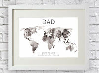 Personalised You're My World Photo Picture Print Word Art Map Collage Gift