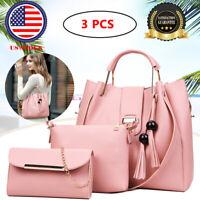 3Pcs Women Shoulder Handbag Tote  Bags Purse  Messenger Satchel Bag Cross Body