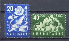 37610) BULGARIA 1951 MNH** Tobacco, Roses, Fruit 2v