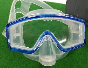 ScubaPro Mask CrystaIVu Blue With Case VERY NICE-LOOKING!!