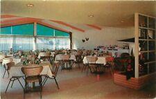 Interior Springerville Arizona 150s Safire Restaurant Postcard Riggins 11819