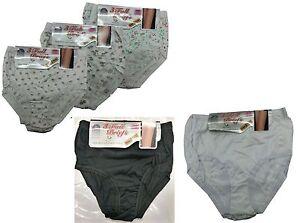 6 Pack Ladies Womens Nickers Underwear Lingerie Full Briefs Mama Cotton Rich