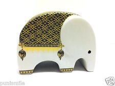 Elephant Ceramic Porcelain Figurine Piggy Bank Money Saving Cute Collectible