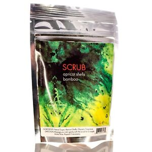 Bamboo & Apricot Scrub 4oz - 100% Natural Body Scrub & Facial Deep Cleanser