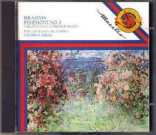 George Szell: BRAHMS Symphony No. 3 HAYDN VARIATIONS CBS CD Symphonie Cleveland