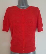 Size 8 Cardigan Top GOK WAN TU Red Crotchet Knit BRAND NEW Ladies Women's