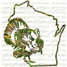 Camouflage Camo Wisconsin Turkey Hunter Hunting Vinyl Decal Sticker Gobbler