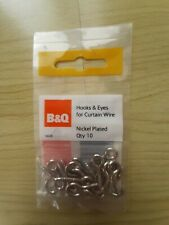 hook & eyes nickel plated B&Q x 10