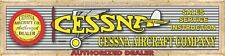 """CESSNA AIRPLANE AUTHORIZED OLD DEALER RUSTIC LETTER SIGN REMAKE BANNER 24"""" x 96"""""""