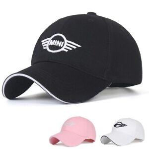 New Mini Cooper Car Logo Baseball Hat Curved Embroidered Unisex Adjustable Cap