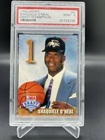 1992 HOOPS DRAFT REDEMPTION #A SHAQUILLE O'NEAL ROOKIE CARD PSA 9 SP MINT HOT