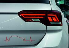 Impuls Aufkleber mit VW T-Roc Silhouette Autosticker Stripes Styling Tuning