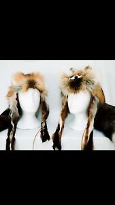 These Are Custom Made Red Fox Fur Hats With Or Without Faces.
