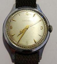 Vintage Herrenuhr Armbanduhr Junghans Handaufzug Flechtarmband braun ~60er