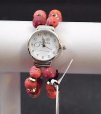Jilzara Morocco Round Watch Polymer Clay Beads Handcrafted Artisan Jewelry G4