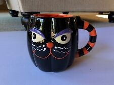 Cracker Barrel Halloween Black Cat Coffee Tea Cup Mug 16 oz Collectible 2016