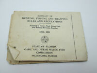 Vintage 1950 1951 State of Florida Game and Fresh Water Fishing Commision Rules