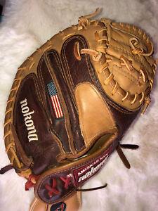Nokona PL-3200 Catchers Mitt Baseball American Made Throw With Right Hand