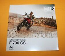 BMW F 700 GS 2012 Prospekt Brochure Depliant Catalog Prospect Folder Broschyr