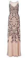 Ariella Eden Beaded Mesh Dress Nude UK10 RRP £395