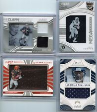 2016 Panini Clear Vision 4 Card Jersey Group Lot Inc Carr, Cooper, Tomlinson