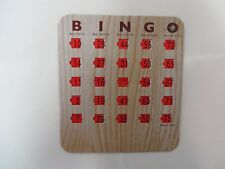 100 New Bingo Shutter Slide Cards -  Wood Grain - Deluxe 5 Ply -