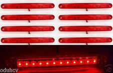 8x 24V Rot Hinten 12 LED Seitenmarkierungsleuchten Lampe für Lkw-anhänger SCANIA