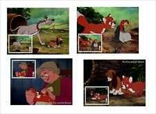 2019 DISNEY     The Fox and the Hound   8  SOUVENIR SHEETS animation cartoons