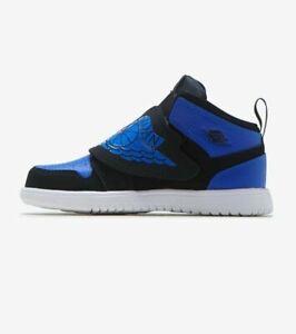 Toddler Nike Sky Jordan 1 Air Black Hyper Royal White TD BQ7196-004 Size 7C