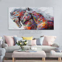 Home Living Room Art Wall Decor Running Horse Painting Printed Canvas No Frame
