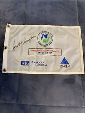 Scott Simpson signed 1987  US Open golf flag Olympic Club- 💯% -Authenticate!!!
