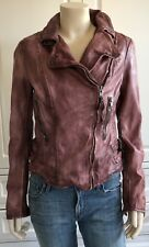 MUUBAA burnet / brown 100% leather biker jacket - UK12