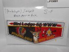 ILLINI LODGE 55 PROTOTYPE SAMPLE BLACK PAPER ON BACK  S-F  F13091