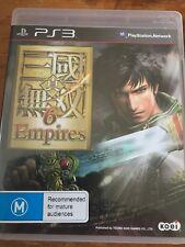 DYNASTY WARRIORS 6 EMPIRES Shin Sangoku Musou 6 Empires PS3 SONY PLAYSTATION 3