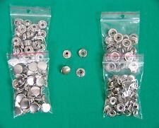 0,205-0,75 €/Stück Druckknöpfe Ringfeder 15 mm silber ROST FREI  Neu Top!