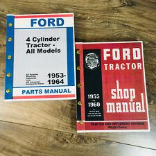 Ford 600 700 800 900 601 Tractor Service Repair Shop Manual Parts Catalog Set