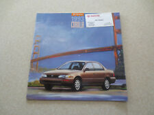 1993 Toyota Corolla automobile advertising booklet