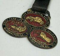 RARE VTG State Farm Life Fire Mutual Insurance Watch Fob - Bloomington, IL