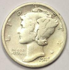 1921-D Mercury Dime 10C - Strong Details - Rare Key Date Coin!